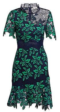Sea Women's Mosaic Floral Crochet Dress - Size 0