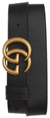 Men's Gucci Gg Marmont Reversible Leather Belt $520 thestylecure.com