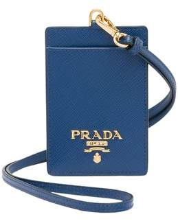 d5e39e5dfc78dc Prada Leather Badge Holder