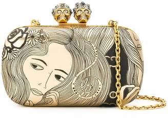 Alexander McQueen Queen and King box clutch