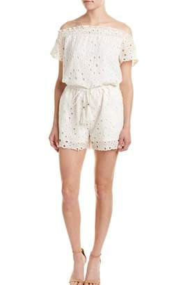 Allison Collection Eyelet Off The Shoulder Romper