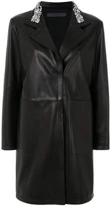 Simonetta Ravizza embellished collar coat