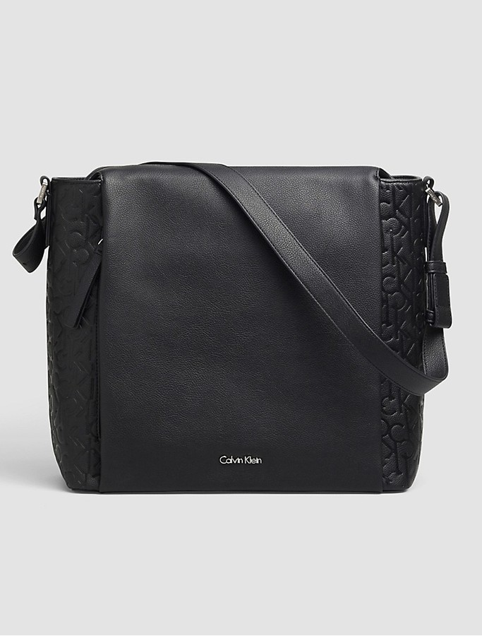 Calvin Klein Pebble Monogram Hobo