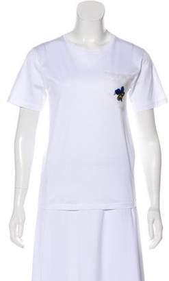 Victoria Beckham Embroidered Short Sleeve Shirt