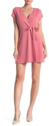 Just For Wraps Wrap Mini Dress