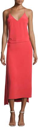 Alexis Analiai Wrap Slip Dress, Pink