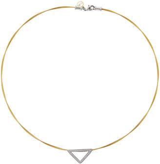 Alor Triangular Diamond Pendant Necklace Yellow