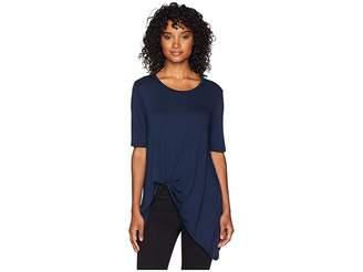 BCBGeneration Asymmetric Hem Top Women's Short Sleeve Pullover