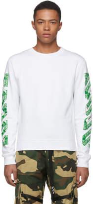 Off-White Off White SSENSE Exclusive White 3D Diagonal Sweatshirt