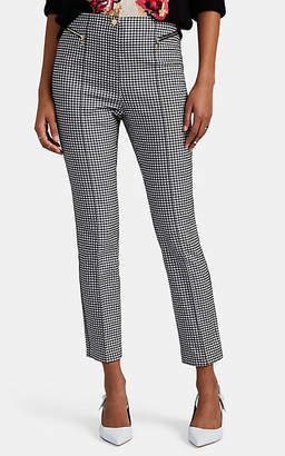 Opening Ceremony Women's Gingham Cotton-Blend Crop Trousers - Black