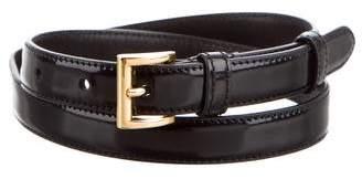 Prada Patent Leather Skinny Belt