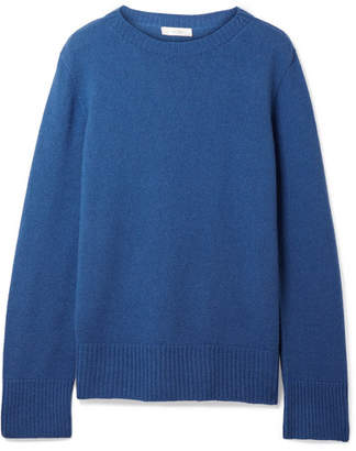 The Row Sibel Oversized Wool And Cashmere-blend Sweater - Azure