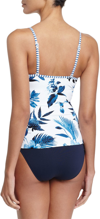 Seafolly Twist-Front Tankini Swim Top, White 3