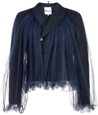 Noir tulle overlay jacket