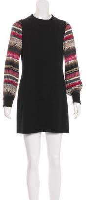 Trina Turk Silk-Accented Shift Dress