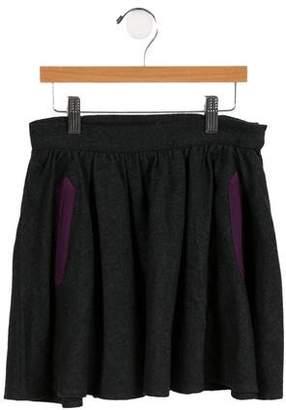 Little Marc Jacobs Girls' Tweed Herringbone Skirt