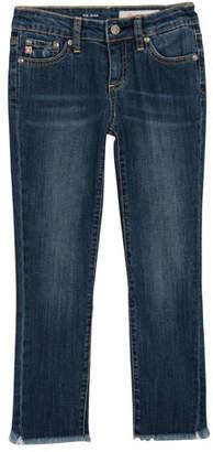 AG Jeans Jessa Fringe-Trim Skinny Jeans, Size 7-14