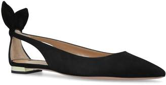 Aquazzura Suede Deneuve Ballet Slippers