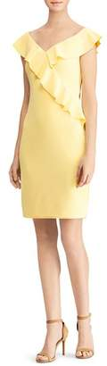 Ralph Lauren Ruffled Off-the-Shoulder Dress