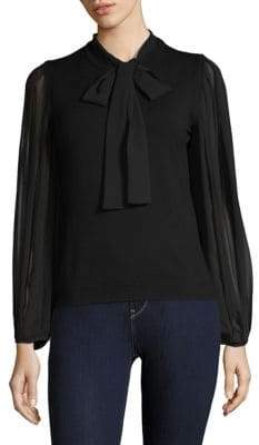 Marella Fosca Pleated Sleeve Blouse