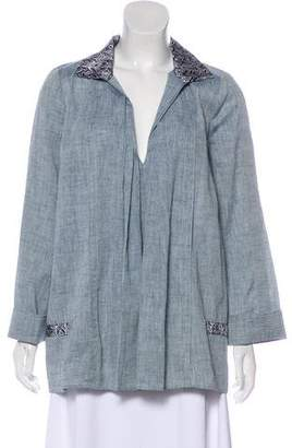 Balenciaga Long Sleeve Plunging Neck Top w/ Tags