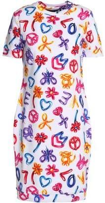 Love Moschino Printed Stretch Cotton-Jersey Dress