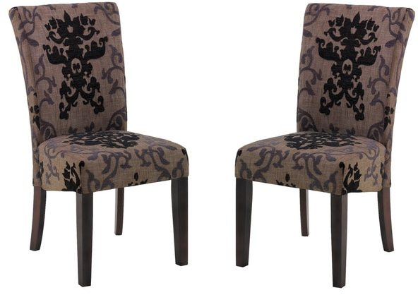Armen Living Montecito Fabric Side Chair (Set of 2)
