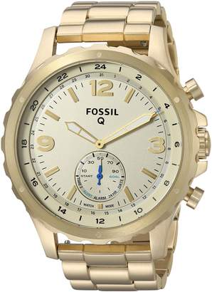 Fossil Q Nate Gen 2 Men's -Tone Stainless Steel Hybrid Smartwatch FTW1142