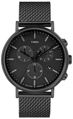 Timex R) Fairfield Chronograph Mesh Strap Watch, 41mm