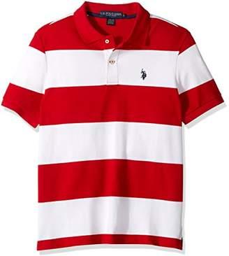 U.S. Polo Assn. Men's Slim Fit Stripe Short Sleeve Pique Shirt
