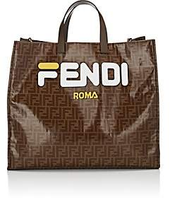 Fendi Women's Shopping Large Coated Canvas Tote Bag - White