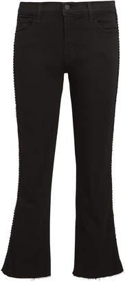 J Brand Selena Cropped Black Jeans