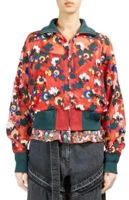 Sacai Sheer Floral Bomber Jacket