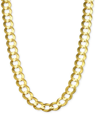 """Macy's 24"""" Open Curb Link Chain Necklace (7mm) in Solid 14k Gold"""