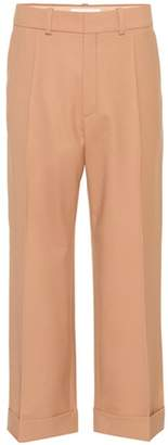 Chloé Cropped wool trousers