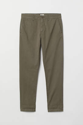 H&M Slim Fit Cotton Chinos - Green