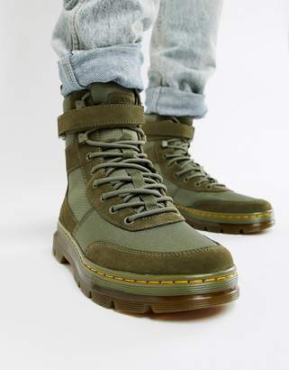 Dr. Martens Combs Tech tie boots in khaki