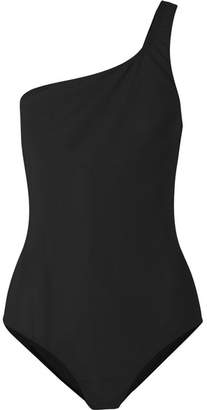 Etoile Isabel Marant Sage One-shoulder Cutout Swimsuit - Black