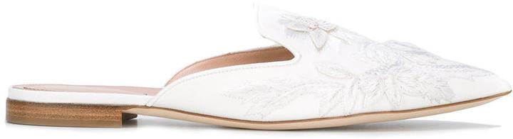 Alberta FerrettiAlberta Ferretti embroidered slippers