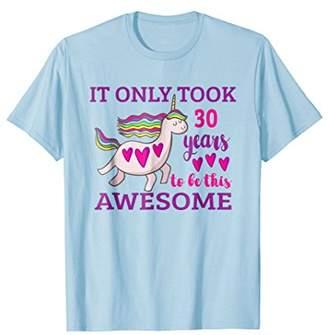 Unique Unicorn 30th Birthday Gift T-Shirt