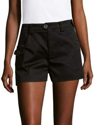Miu Miu Buttoned Cotton Shorts
