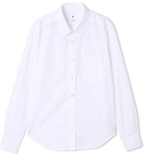 Human Woman (ヒューマン ウーマン) - HUMAN WOMAN 100/2 G ホワイトブロードシャツ