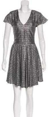 Alexis Metallic Short Sleeve Mini Dress