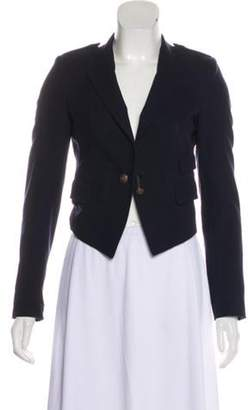 Boy By Band Of Outsiders Notched-Lapel Crop Jacket Navy Notched-Lapel Crop Jacket
