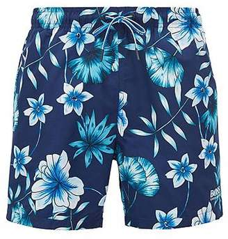 HUGO BOSS Floral-print swim shorts in quick-drying technical fabric