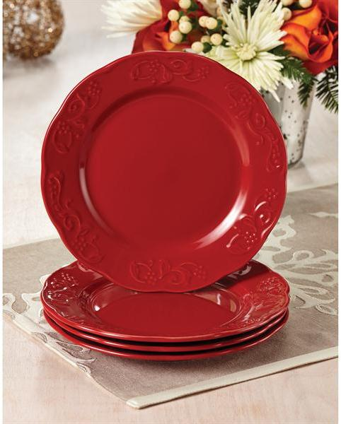 Paula Deen 4-pc. Spiceberry Salad Plate Set, Red