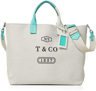 Tiffany & Co. Color Block weekend tote