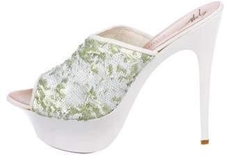 Giuseppe Zanotti Sequin Platform Sandals