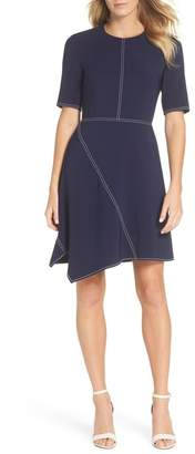 Vince Camuto Laguna Asymmetrical A-Line Dress (Regular & Petite)
