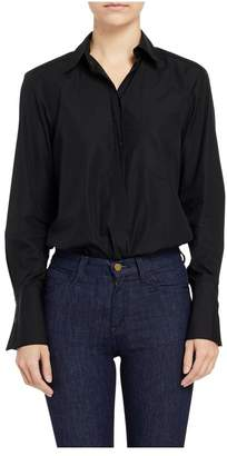Alix Howard Long Sleeve Shirt Bodysuit In Black